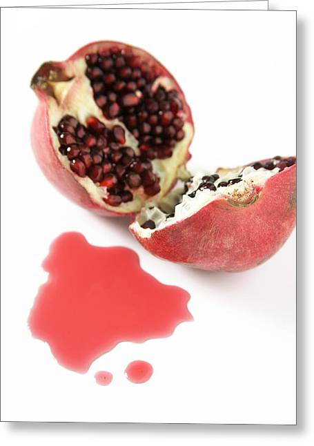 Pomegranate Greeting Card by Veronique Leplat