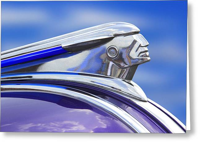 Pontiac Hood Ornament  Greeting Card by Mike McGlothlen