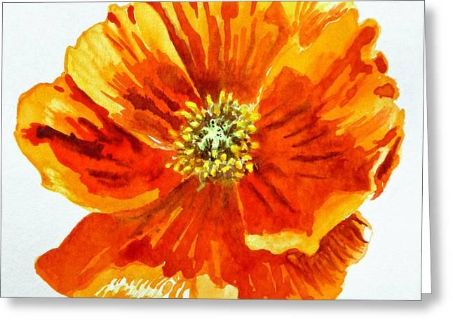 Poppy Greeting Card by Irina Sztukowski