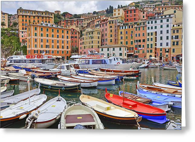 Port Of Camogli Greeting Card by Joana Kruse