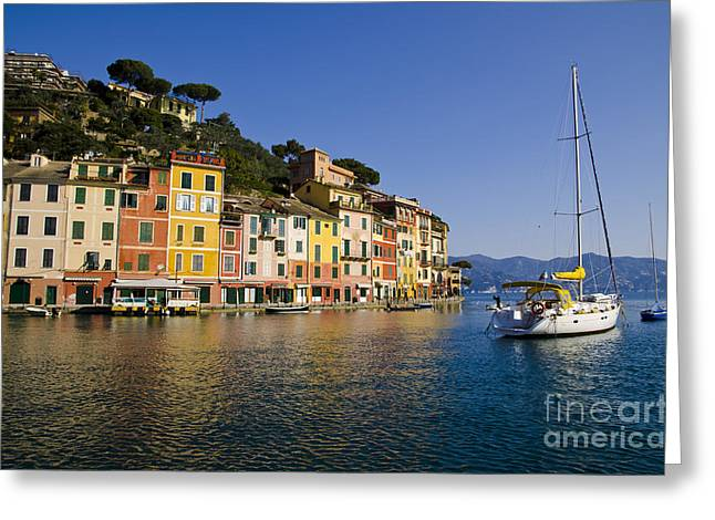 Portofino Greeting Card by Mats Silvan