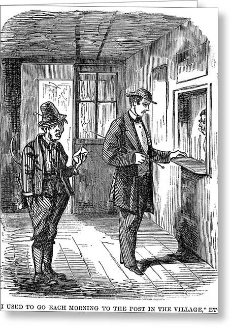 Post Office, C1860 Greeting Card