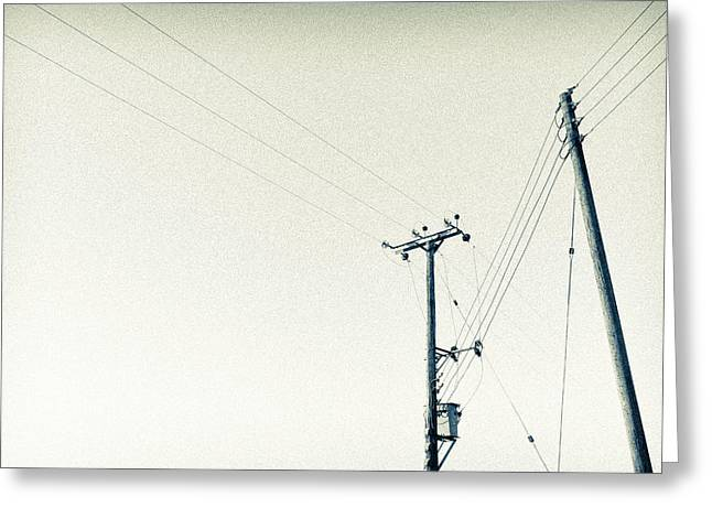 Will Power Greeting Cards - Power Lines Greeting Card by Martyn Williams