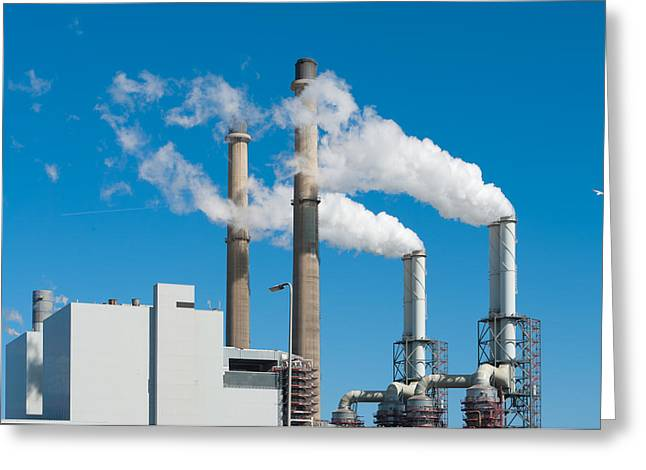 Power Plant Greeting Card by Hans Engbers