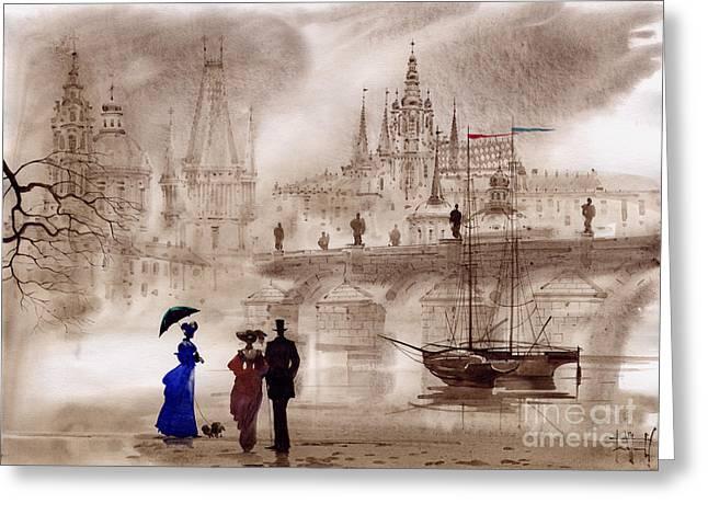 Prague II Greeting Card by Svetlana and Sabir Gadghievs