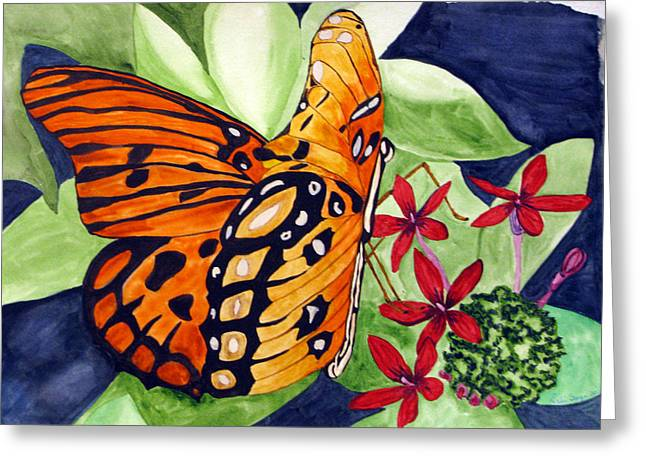 Precocious Butterfly Greeting Card
