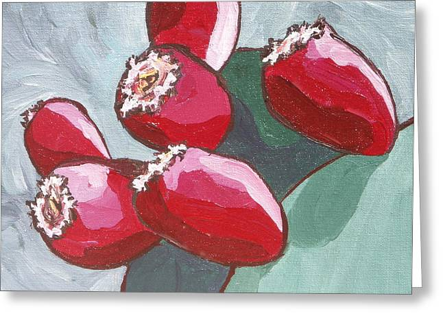 Prickly Pear Fruit Greeting Card by Sandy Tracey