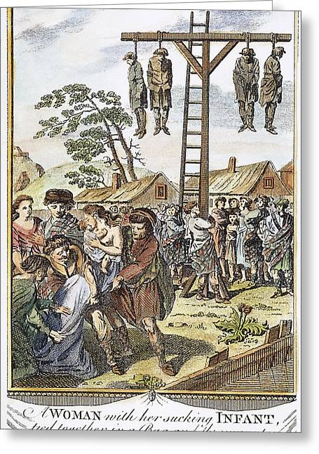 Protestant Martyrs, 1563 Greeting Card by Granger