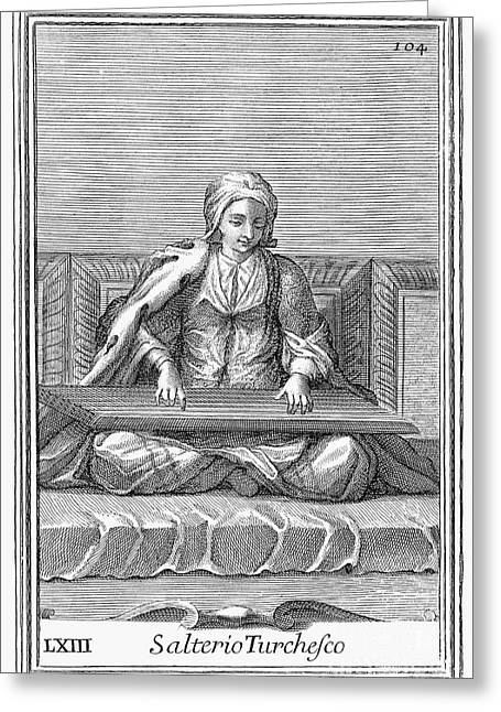 Psaltery, 1723 Greeting Card