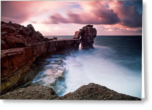 Pulpit Rock Greeting Card by Nina Papiorek