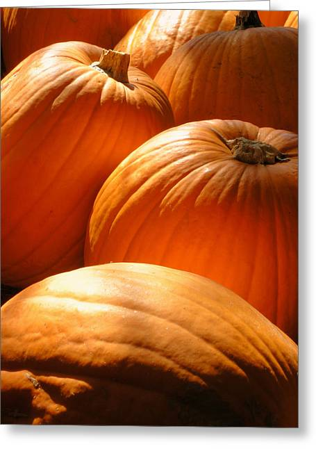 Pumpkin Glow Greeting Card by The Forests Edge Photography - Diane Sandoval