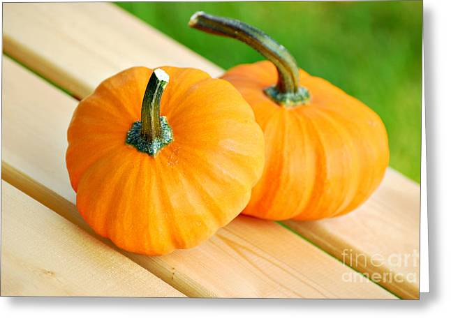 Pumpkins Greeting Card by HD Connelly