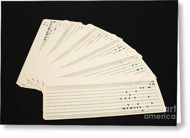 Punch Cards Greeting Card by Photo Researchers, Inc.