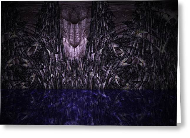 Purple Caverns Greeting Card by Christopher Gaston