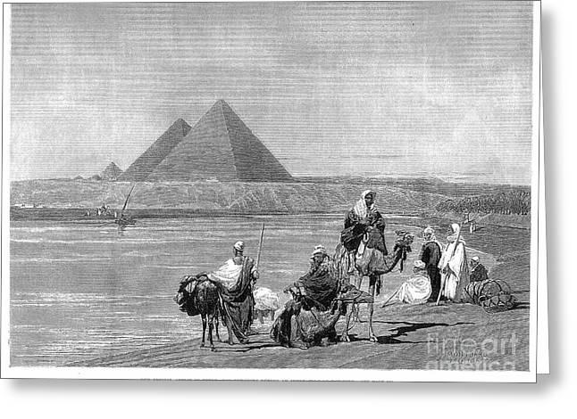 Pyramids At Giza, 1882 Greeting Card by Granger