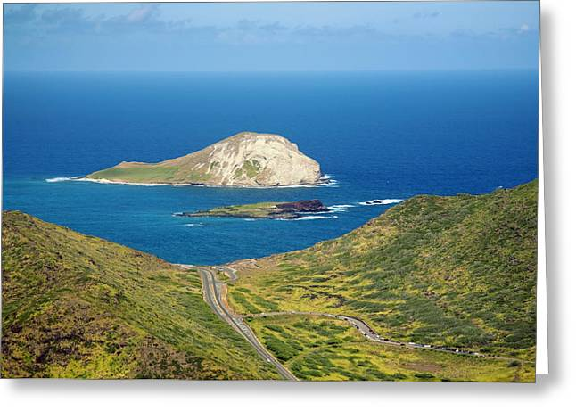 Rabbit Island Greeting Card by Ron Dahlquist - Printscapes