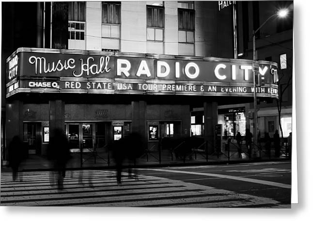 Greeting Card featuring the photograph Radio City Music Hall by Michael Dorn