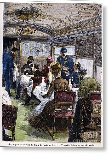 Railroad: Dining Car, 1880 Greeting Card by Granger