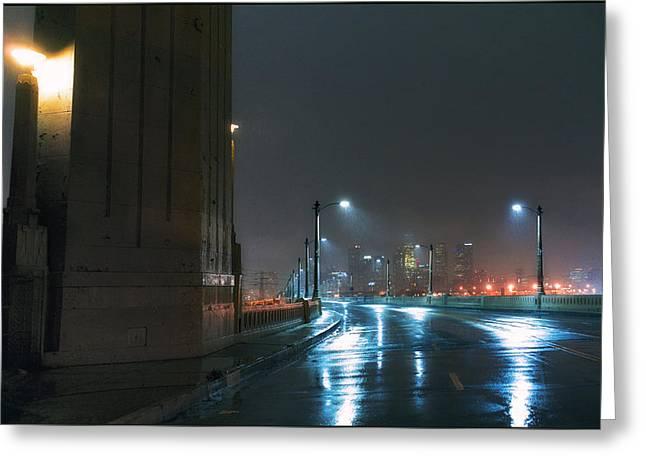 Rain On The Sixth Street Bridge Greeting Card by Kevin  Break