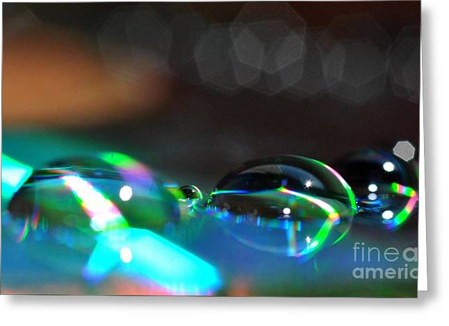 Greeting Card featuring the photograph Rainbow Drops by Sylvie Leandre