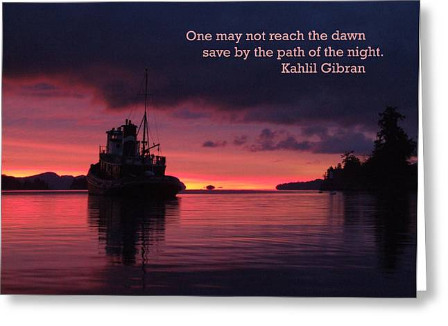 Reach The Dawn Greeting Card