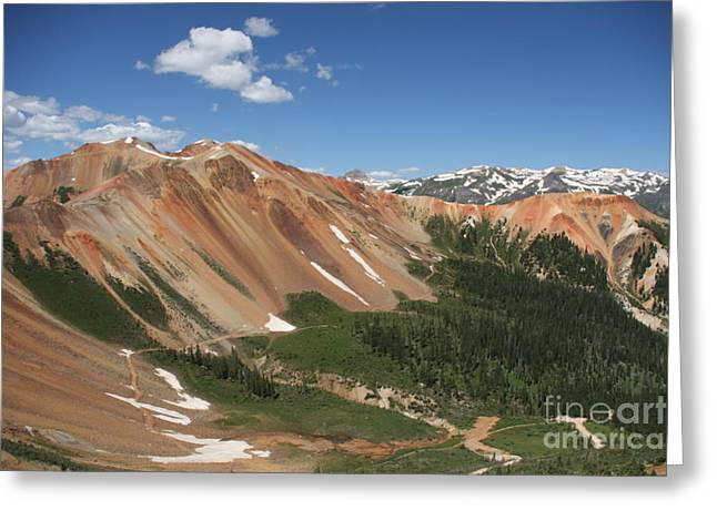 Greeting Card featuring the photograph Red Mountain by Marta Alfred