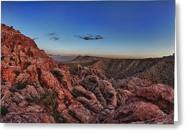 Red Rock Sunset Greeting Card by Rick Berk