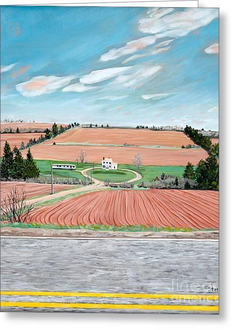 Red Soil On Prince Edward Island Greeting Card
