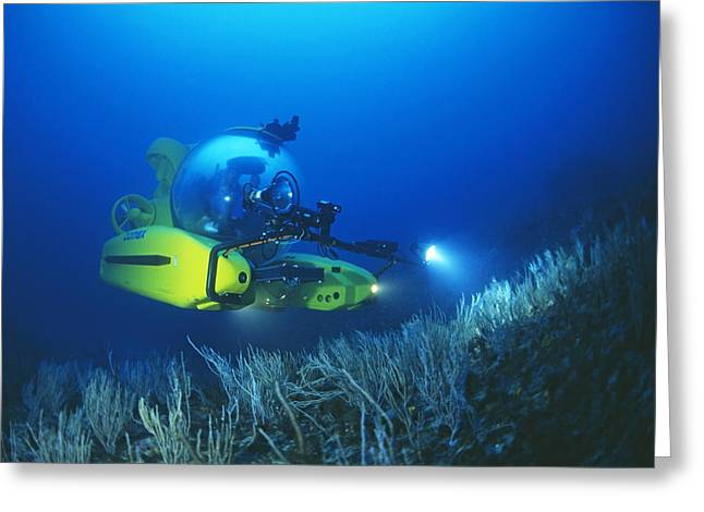 Research Submarine Greeting Card by Alexis Rosenfeld