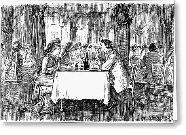 Restaurant, 19th Century Greeting Card