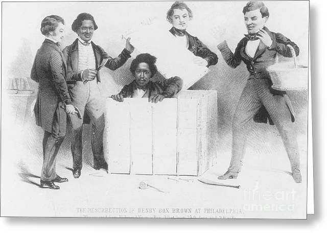 Resurrection Of Henry Box Brown Greeting Card by Photo Researchers