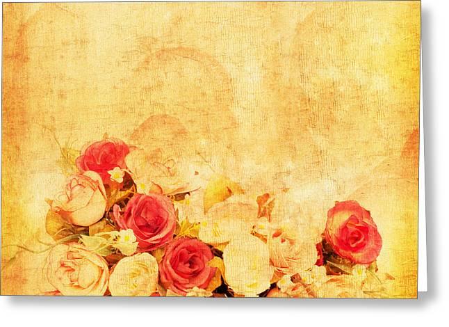 Retro Flower Pattern Greeting Card