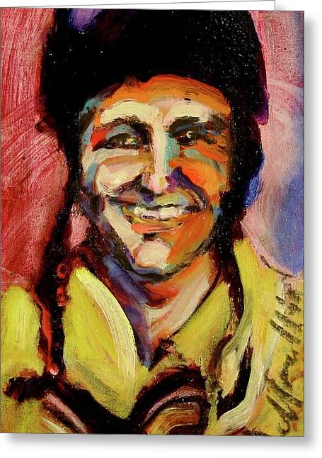 Greeting Card featuring the painting Rex Mays by Les Leffingwell