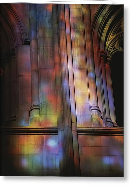 Rich Colors Projected From Stained Greeting Card by Stephen St. John
