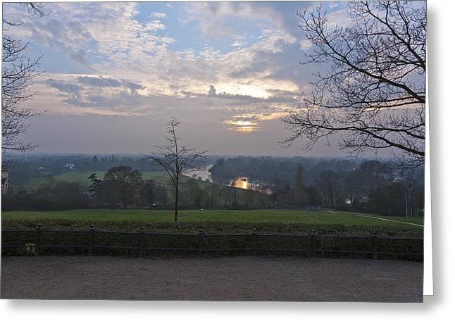 Greeting Card featuring the photograph Richmond Sunset by Maj Seda
