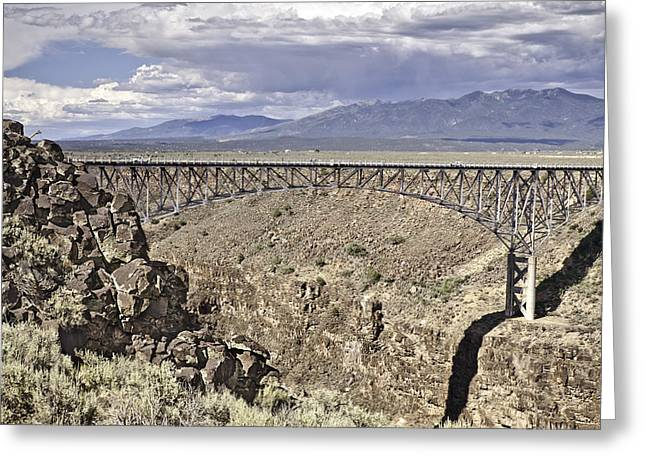 Rio Grande Gorge Bridge Greeting Card by Melany Sarafis