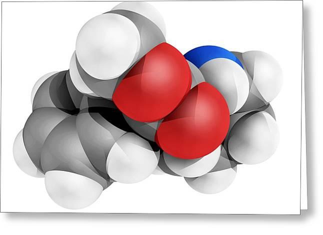 Ritalin Molecule Greeting Card by Laguna Design