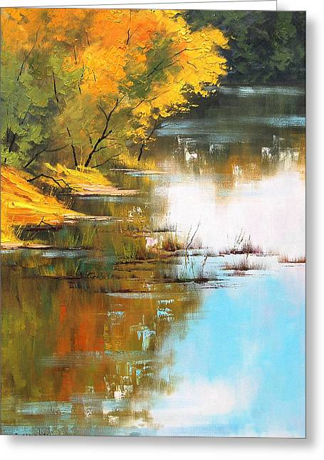 River Bank Greeting Card by Graham Gercken