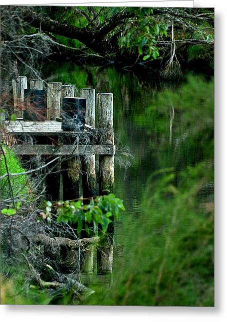 River Mooring Greeting Card by Heather Thorning