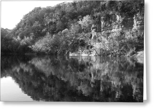 River Reflection Greeting Card by Paul Roger Ballard