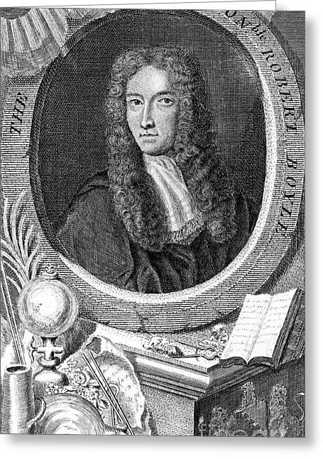 Robert Boyle, British Chemist Greeting Card by Science Source