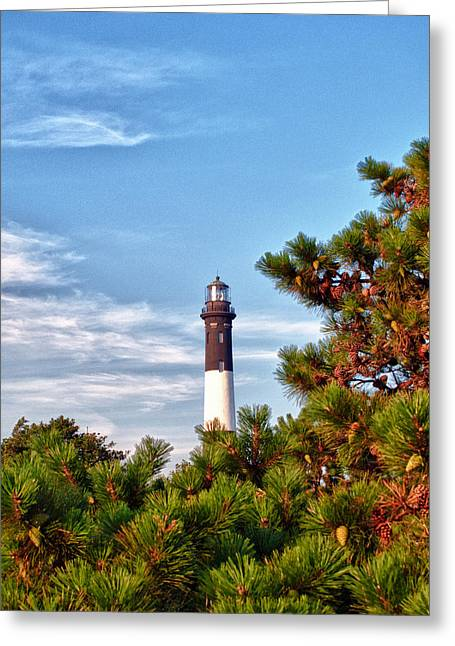 Robert Moses Light House Greeting Card by Linda Pulvermacher