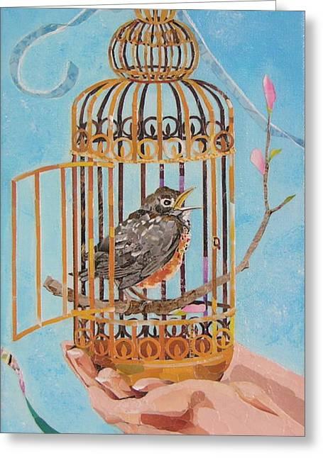 Robin Bird Greeting Card