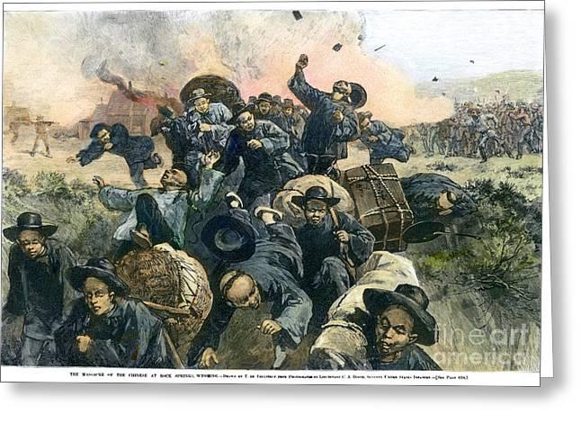 Rock Springs Massacre Greeting Card by Granger