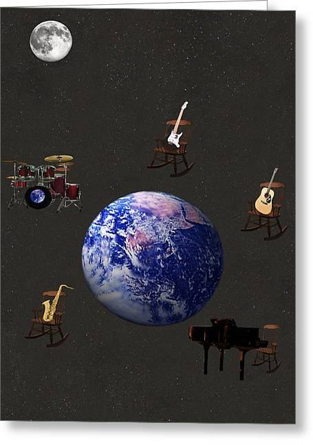Rocking All Over  The World Greeting Card