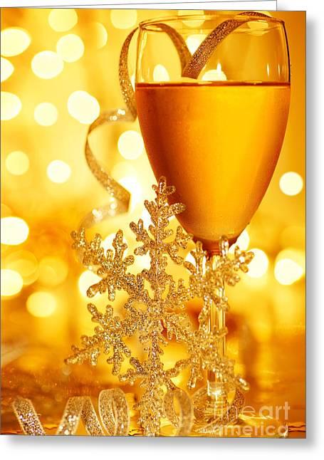 Romantic Holiday Celebration Greeting Card
