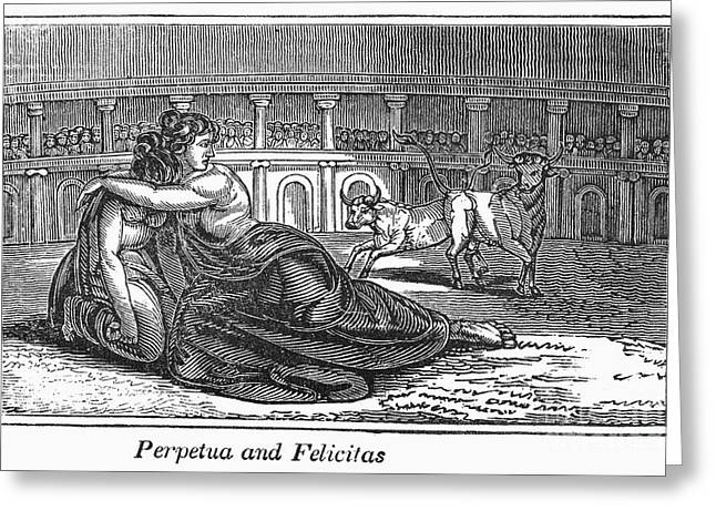 Rome: Perpetua & Felicitas Greeting Card by Granger