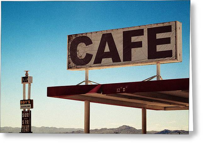 Roy's Cafe Greeting Card by Aurica Voss