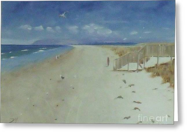 Ruakaka Beach Greeting Card by Debra Piro