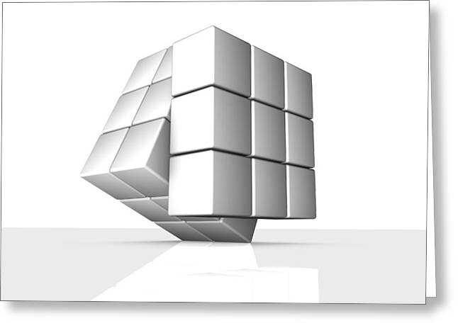 Rubik's Cube, Artwork Greeting Card by Pasieka